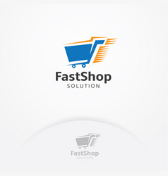Fast shopping logo vector