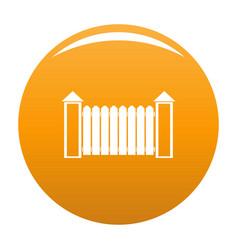 Fence with turret icon orange vector