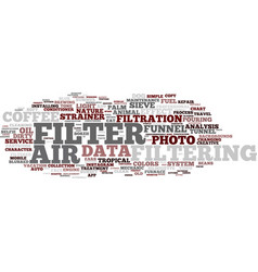Filtering word cloud concept vector