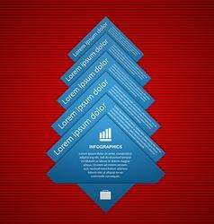 fir tree infographics Modern design template vector image