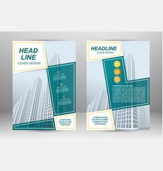 flyer template design vector image