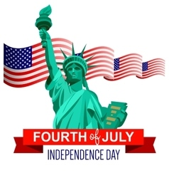 Fourth of July vector image