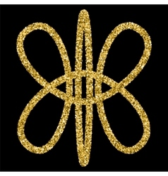 Golden glittering logo template vector