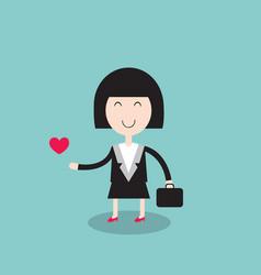 happy businesswoman loves her job vector image