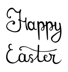 happy easter hand drawn calligraphy lettering vector image