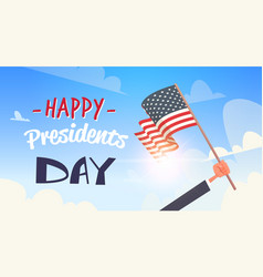 Happy presidents day concept usa greeting card vector
