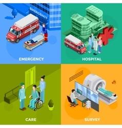 Hospital 2x2 design concept vector