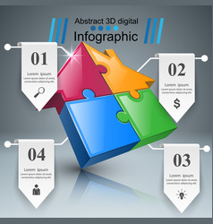 House puzzle icon business infographic vector