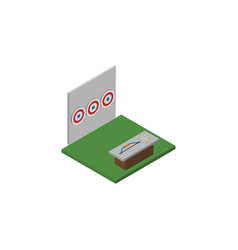 isolated archery isometric aiming game vector image
