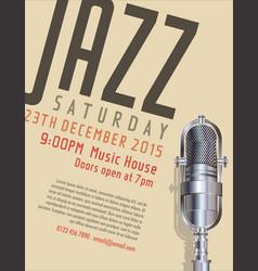 jazz poster 1 vector image