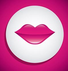 Kiss design vector