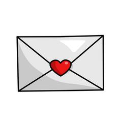 love envelope icon romantic decoration post vector image