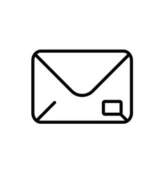 mail postcard delivery icon thick line vector image