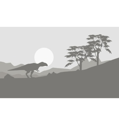 Mapusaurus on the hill scenery vector