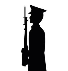 militar officer shape vector image