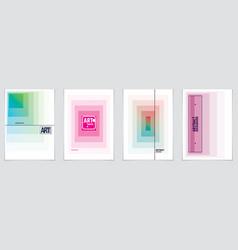 minimalistic cover brochure designs geometric vector image