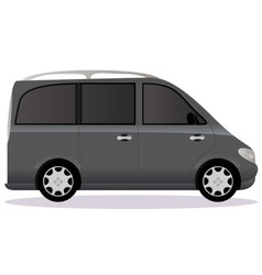 Minivan car body type vector