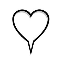 Monochrome silhouette heart shape dialog box vector
