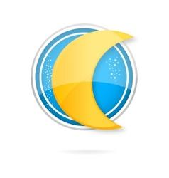 moon logo vector image