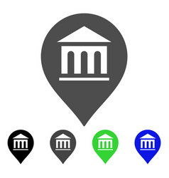 Museum marker flat icon vector