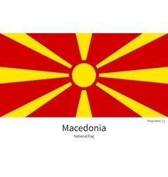 National flag of Macedonia with correct vector