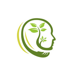 nature head science logo vector image