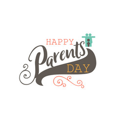 Parents day badge design sticker stamp logo vector
