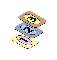 Playing cards icon vector