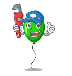 Plumber green balloon on character plastic stick vector