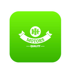 power machinery icon green vector image