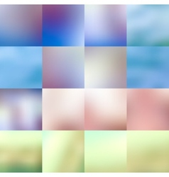 set abstract colorful blurred backgrounds vector image