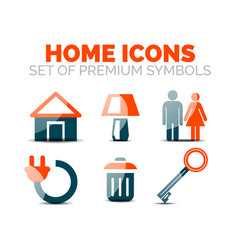 set of home equipment and elements icons vector image