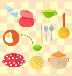 Set of kitchen utensil vector