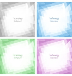 Set of light abstract colorful technology frames vector