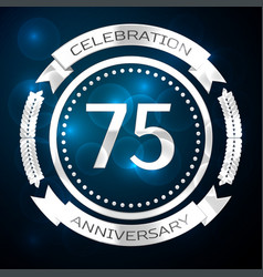 Seventy five years anniversary celebration with vector