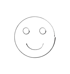 Smile face grunge icon symbol Emoji vector