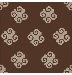 Spiral abstract beige seamless pattern vector image