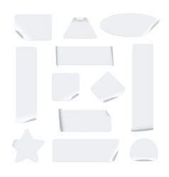 stickers different shapes realistic templates vector image