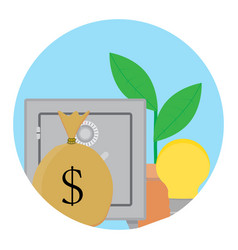 successful capitalization funds icon vector image