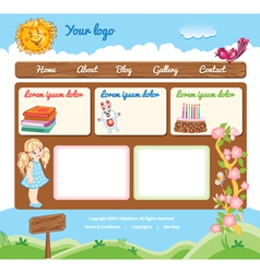 Template for kid web site vector
