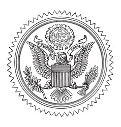 the great seal of the united states vintage vector image