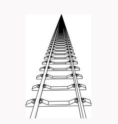 the railway going forward 3d vector image