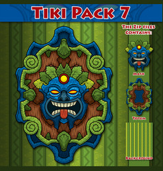 Tiki pack 7 vector