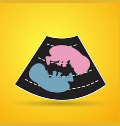 Ultrasonography baby icons vector
