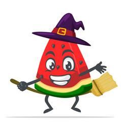 Watermelon character or mascot vector