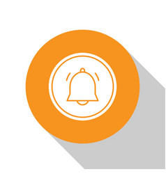 White circle button and chat notification icon vector