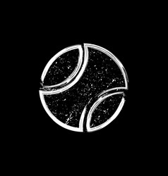 White grunge dotted tennis ball vector