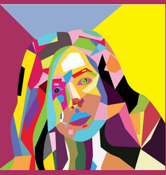 Woman face grunge design vector