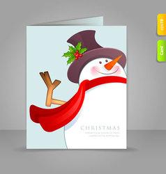 xmas card snowman vector image