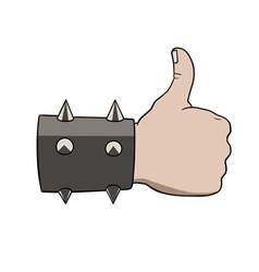 brutal thumbs up vector image